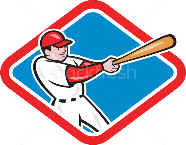 Baseball Player Batting Cartoon Stock photo © patrimonio