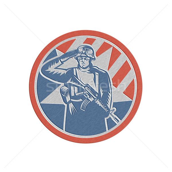 Metalen amerikaanse soldaat geweer retro Stockfoto © patrimonio