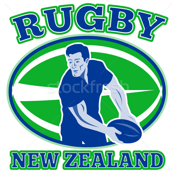 rugby passing front ball new zealand Stock photo © patrimonio
