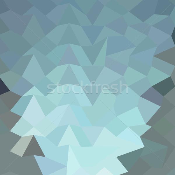 Cambridge azul abstrato baixo polígono estilo Foto stock © patrimonio