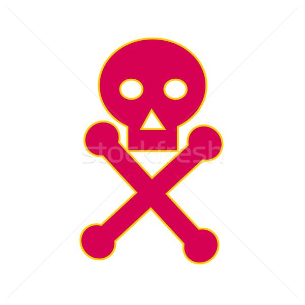 Veneno símbolo ícone ilustração humanismo crânio Foto stock © patrimonio