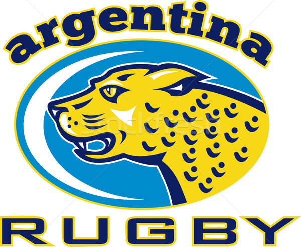Rugby Argentina Jaguar Mascot head Stock photo © patrimonio