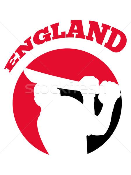 cricket player batsman batting retro England Stock photo © patrimonio