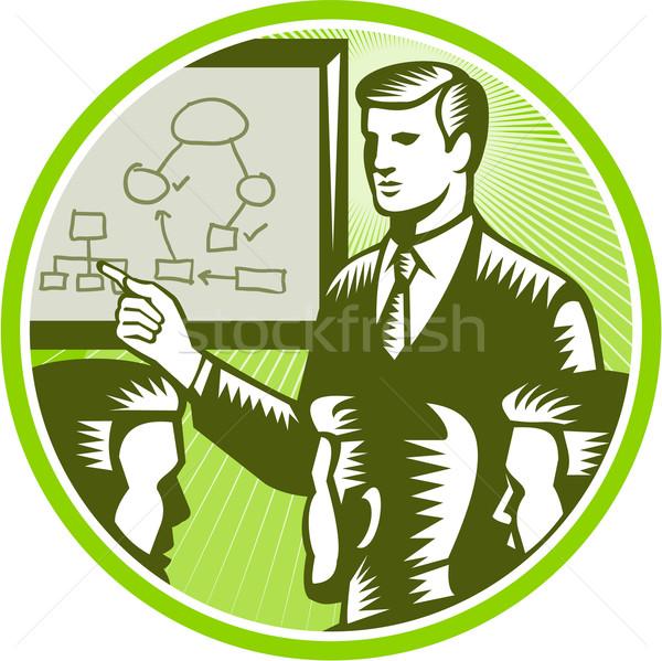 Imprenditore boardroom illustrazione maschio impiegato Foto d'archivio © patrimonio