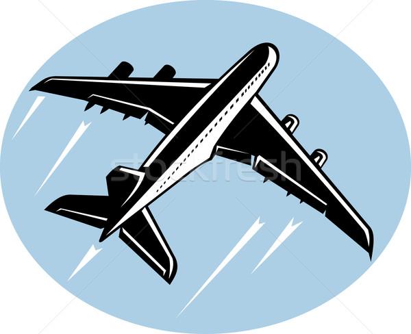 Jumbo jet airliner taking off Stock photo © patrimonio