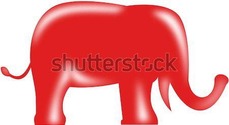 Rouge républicain éléphant 3D style illustration Photo stock © patrimonio