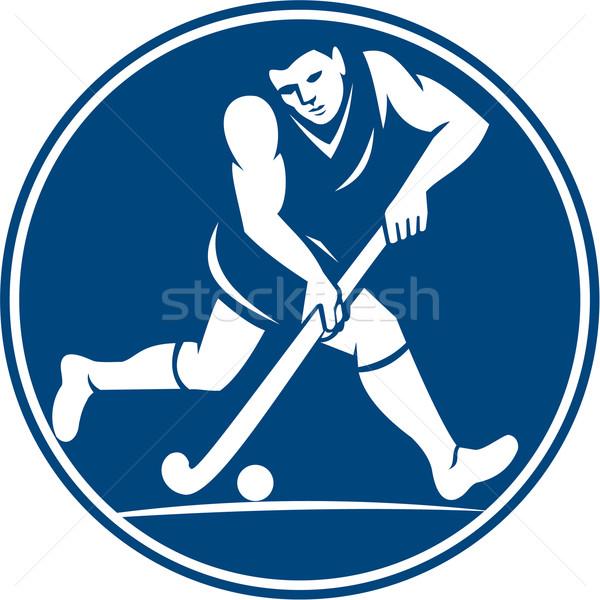Field Hockey Player Running With Stick Icon Stock photo © patrimonio