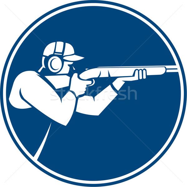 Trap Shooting Shotgun Circle Icon Stock photo © patrimonio