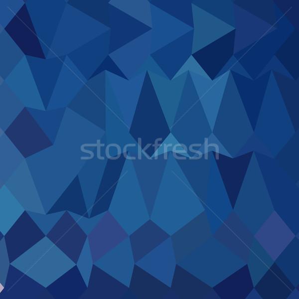 Stockfoto: Kobalt · Blauw · abstract · laag · veelhoek · stijl
