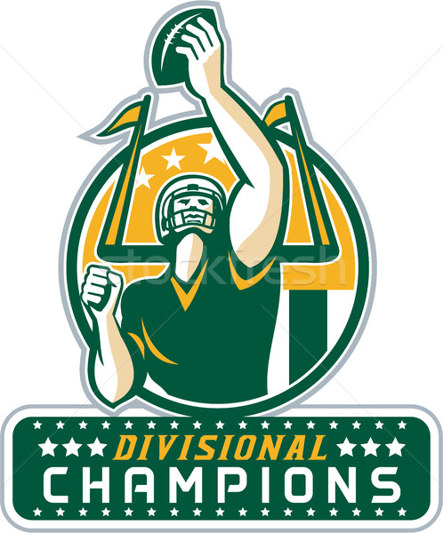 American Football Division Champions Retro Stock photo © patrimonio