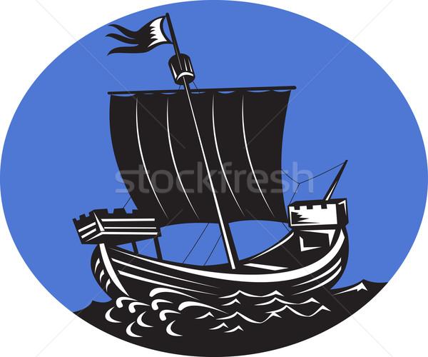 galleon tall ship sailing sea Stock photo © patrimonio