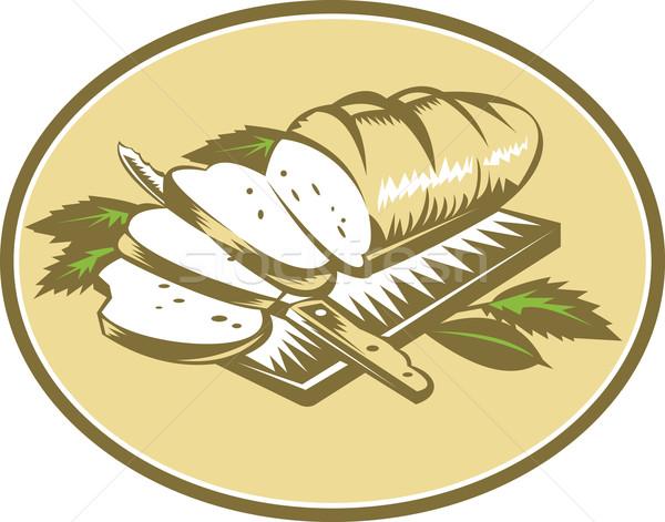 хлеб буханка ножом совета иллюстрация Сток-фото © patrimonio