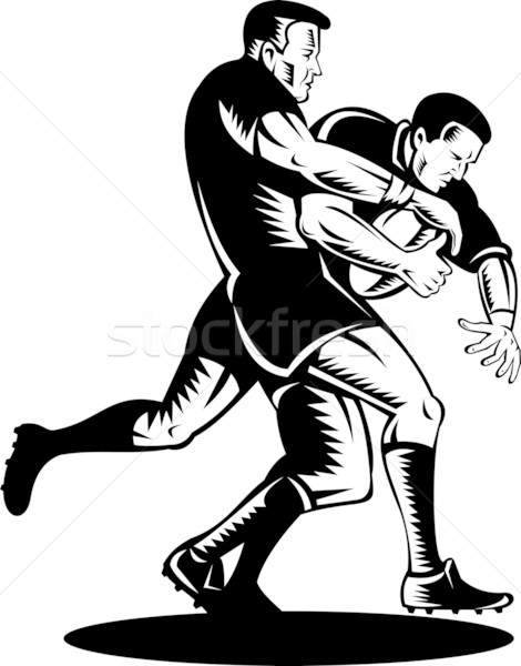 rugby player tackle the ball Stock photo © patrimonio