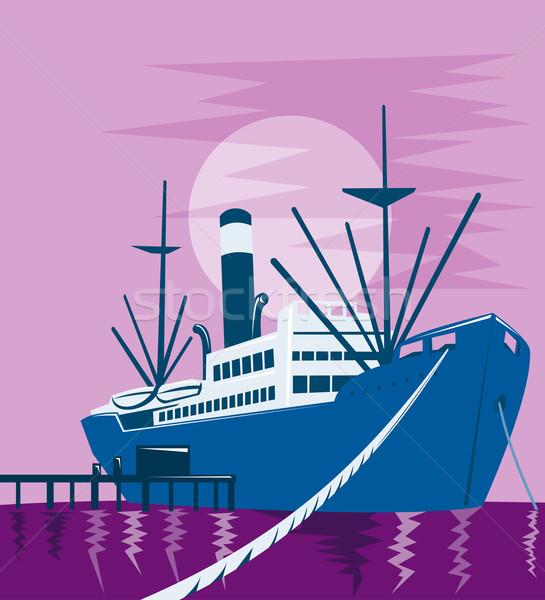 passenger cargo ship docking Stock photo © patrimonio