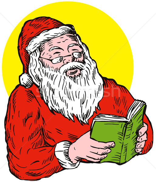 Santa Claus reading book Stock photo © patrimonio