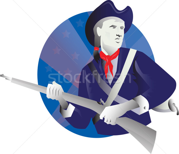American Minuteman Revolutionary Soldier Retro Stock photo © patrimonio