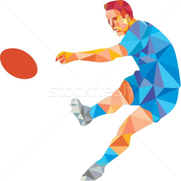 регби игрок мяча низкий многоугольник Сток-фото © patrimonio