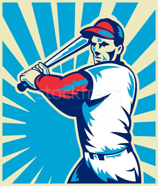 Jogador de beisebol bat ilustração conjunto dentro Foto stock © patrimonio