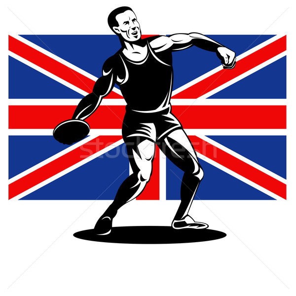 Games 2012 Discus Throw British Flag Stock photo © patrimonio