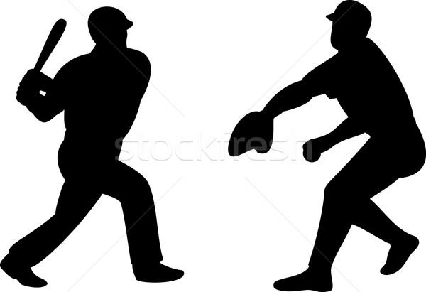 American Baseball Player Batting Pitching Stock photo © patrimonio