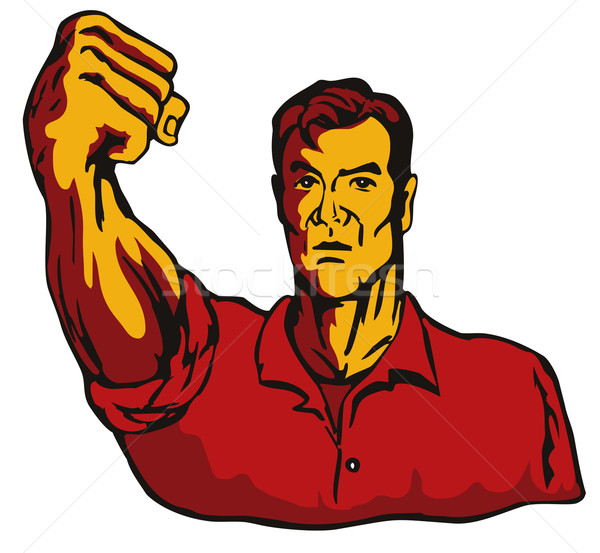 Man with Clenched Fist Stock photo © patrimonio
