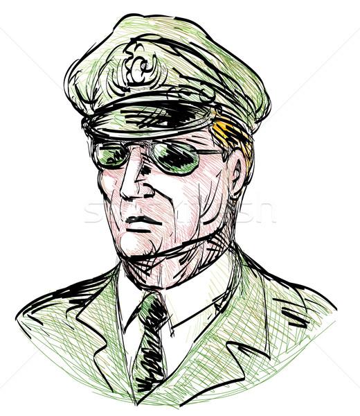 Portrait of a general with sunglasses Stock photo © patrimonio