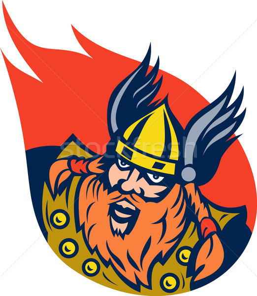 viking warrior or norse god Stock photo © patrimonio