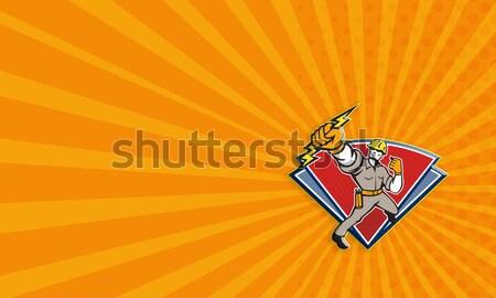 Elektricien illustratie macht Stockfoto © patrimonio