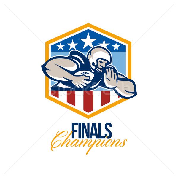 American Football Running Back Finals Champions Stock photo © patrimonio