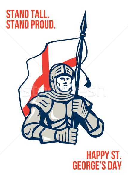 Stoją wysoki dumny angielski szczęśliwy kartkę z życzeniami Zdjęcia stock © patrimonio