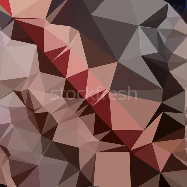 Bulgarian Rose Brown Abstract Low Polygon Background Stock photo © patrimonio