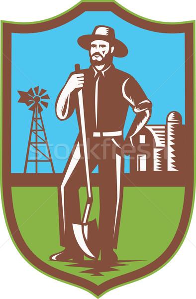 農家 スペード 風車 ファーム 納屋 レトロな ストックフォト © patrimonio