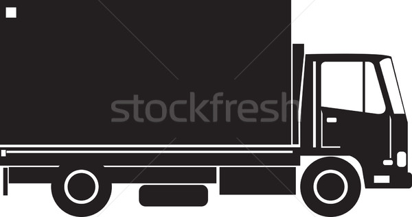 грузовик сторона ретро иллюстрация грузовик вид сбоку Сток-фото © patrimonio
