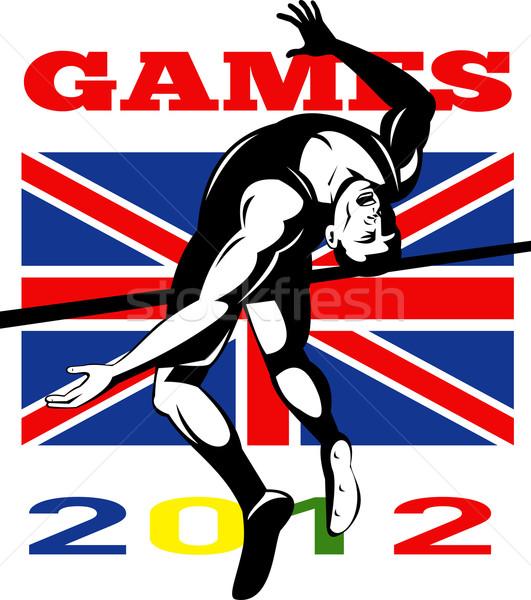Jeux 2012 saut en hauteur suivre domaine Photo stock © patrimonio