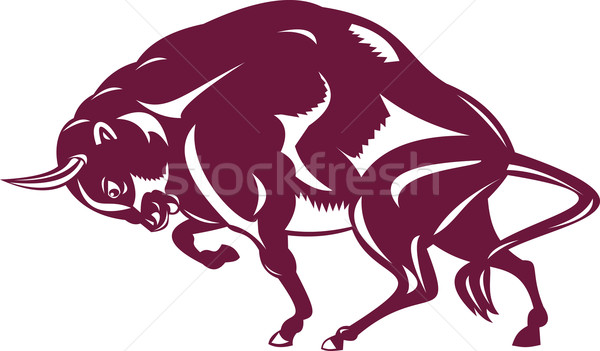 Bison Retro Style Stock photo © patrimonio