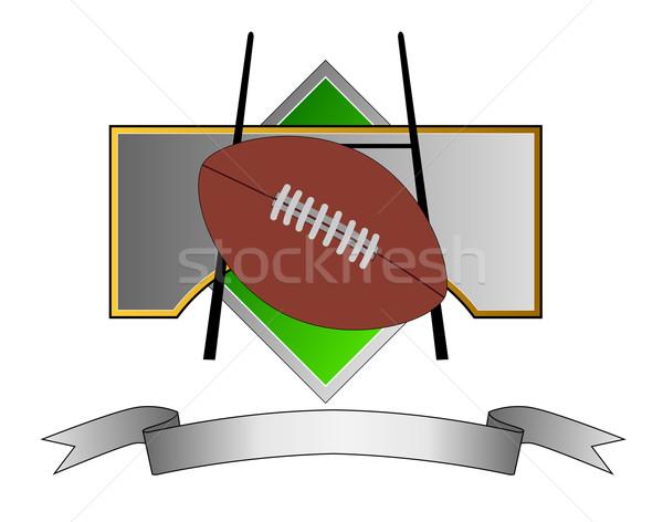 футбола цель пост металл гребень иллюстрация Сток-фото © patrimonio
