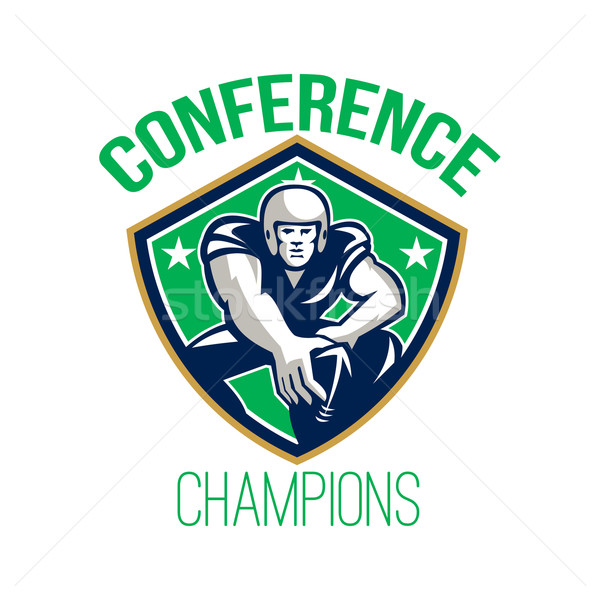 American Football Snap Conference Champions Stock photo © patrimonio