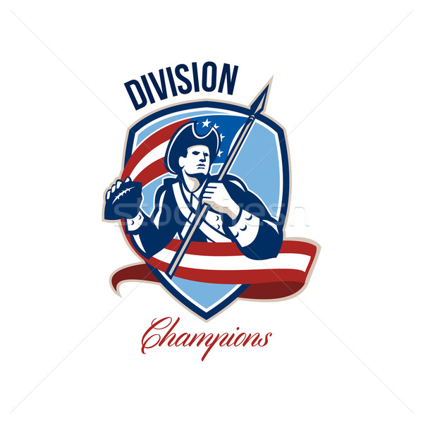 American Football Division Champions Shield Retro Stock photo © patrimonio