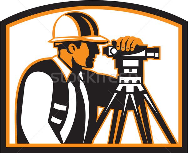 Surveyor Geodetic Engineer Survey Theodolite Stock photo © patrimonio