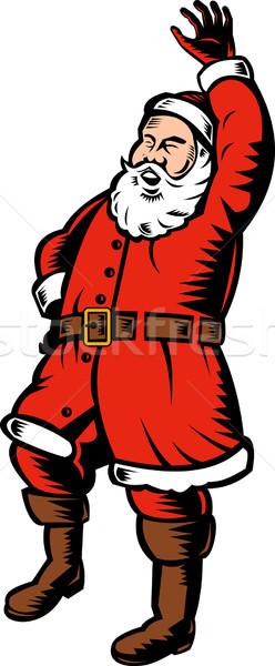 jolly Santa Claus full body Stock photo © patrimonio