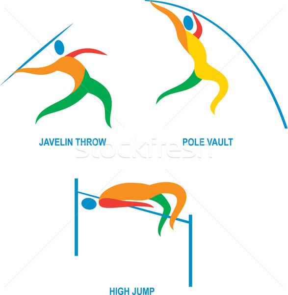 Paal gewelf hoogspringen icon illustratie tonen Stockfoto © patrimonio