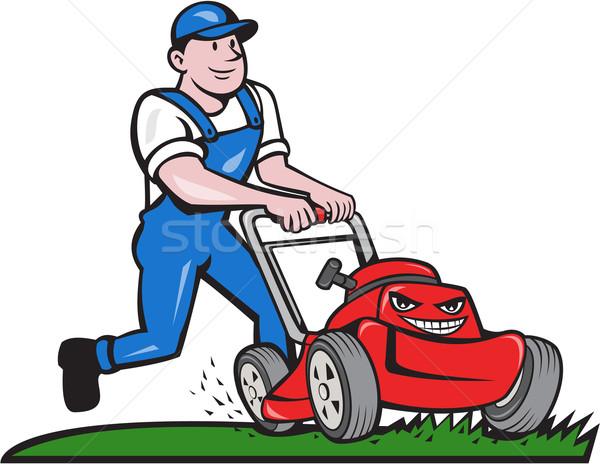 Jardineiro desenho animado ilustração seis Foto stock © patrimonio