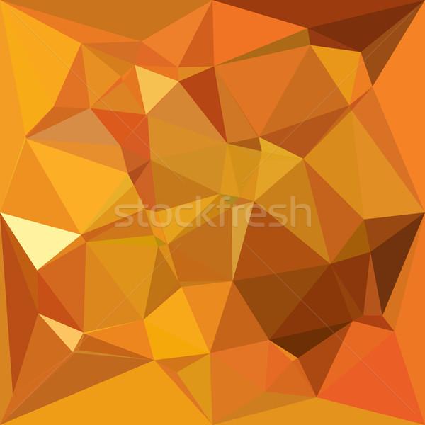 Oscuro naranja amarillo resumen bajo polígono Foto stock © patrimonio