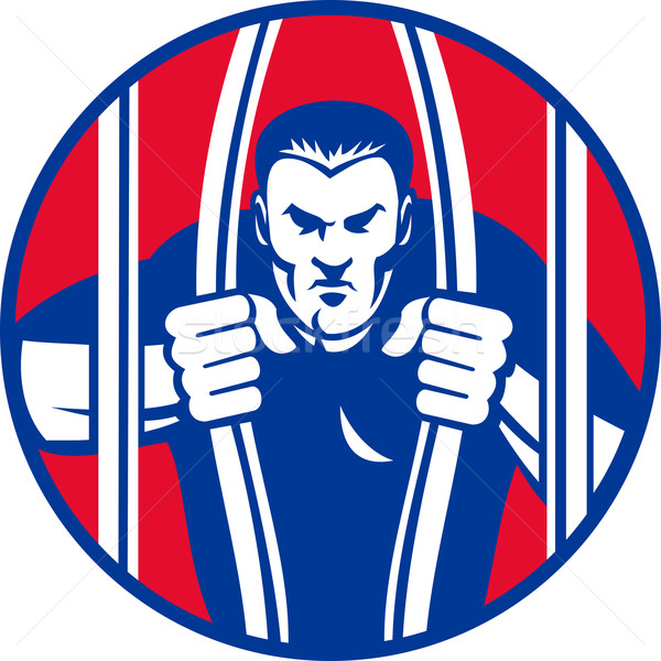 Mahkum tutuklu kaçış kefalet dışarı hapis Stok fotoğraf © patrimonio