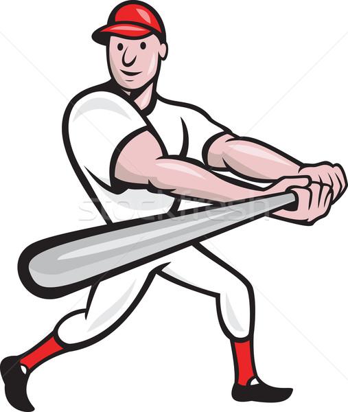 Jogador de beisebol desenho animado ilustração bat Foto stock © patrimonio