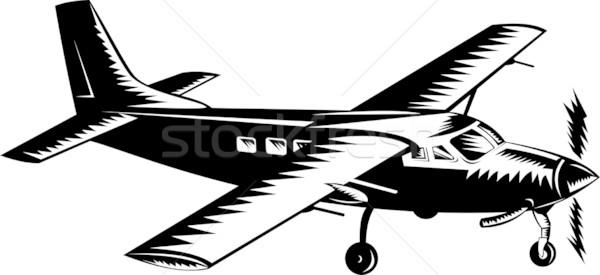 Hélice avion rétro illustration avion Photo stock © patrimonio