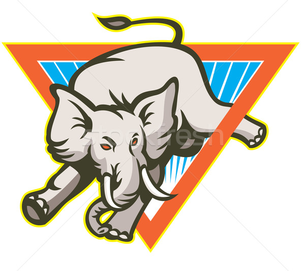 Elephant Jumping Bucking Triangle Stock photo © patrimonio