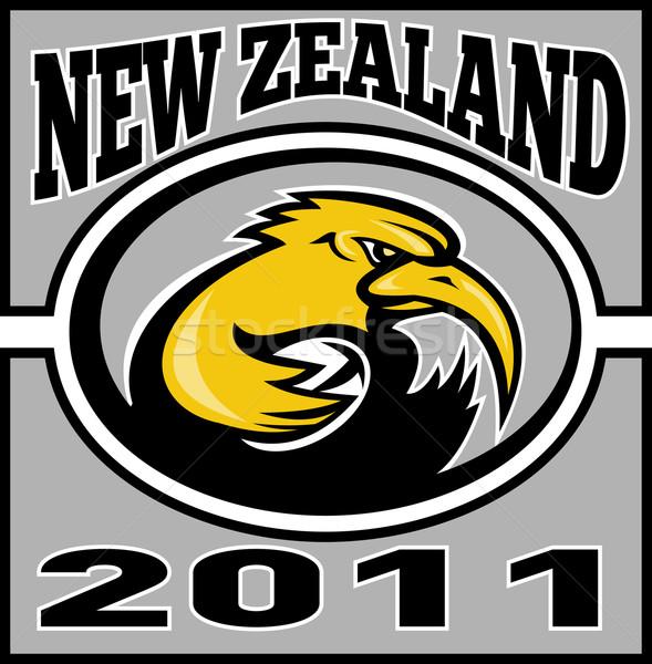 Kiwi rugby jogador bola 2011 ilustração Foto stock © patrimonio