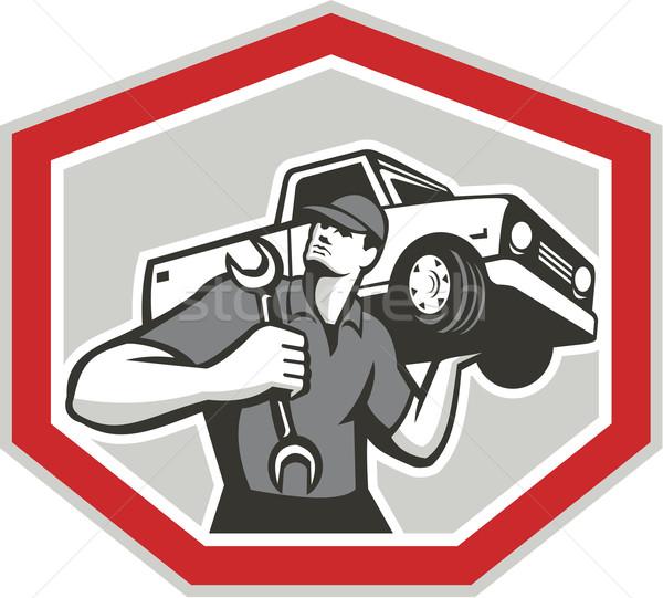 Automotor mecánico camión ilustración coche Foto stock © patrimonio