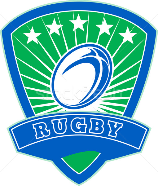 rugby ball with stars shield Stock photo © patrimonio